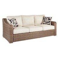 Beachcroft Beige Sofa with Cushion