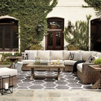 Beachcroft Beige Sectional Patio Group