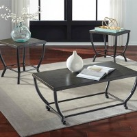 Champori Grayish Brown Occasional Table Set (Includes 3)