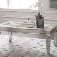 Tessani Silver Finish Accent Table Set