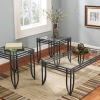 Exeter Black/Brown Occasional Table Set (Includes 3)