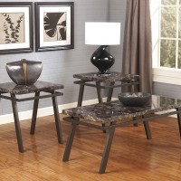 Paintsville Bronze Finish Occasional Table Set (Includes 3)