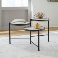 Plannore Black/White Accent Table Set