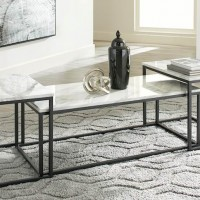 Donnesta Gray/Black Occasional Table Set (Includes 3)