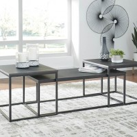 Yarlow Black Occasional Table Set (Includes 3)
