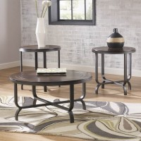 Ferlin Dark Brown Occasional Table Set (Includes 3)