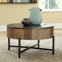 Nashbryn Gray/Brown Accent Table Set