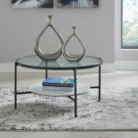 Zalany Black/White Accent Table Set
