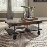 Bostweil Light Brown/Black Accent Table Set