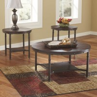 Sandling Rustic Brown Occasional Table Set (Includes 3)