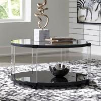 Delsiny Black Accent Table Set