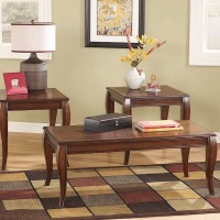 Mattie Reddish Brown Occasional Table Set (Includes 3)