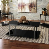 Rollynx Black Occasional Table Set (Includes 3)