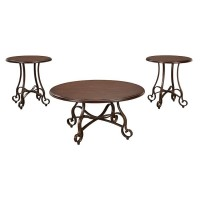 Carshaw Brown Occasional Table Set (Includes 3)