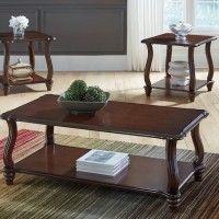Carshaw Dark Brown Occasional Table Set (Includes 3)