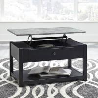 Ezmonei Black/Gray Accent Table Set