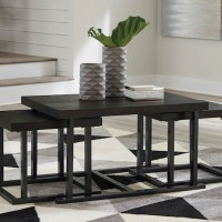 Airdon Gray Cocktail Table with 2 Stools (Includes 3)