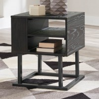 Airdon Gray Square End Table