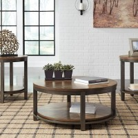 Roybeck Light Brown/Bronze Occasional Table Set (Includes 3)