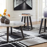 Luvoni Charcoal Occasional Table Set (Includes 3)