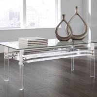 Braddoni Chrome Finish Rectangular Cocktail Table