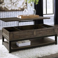 Johurst Grayish Brown Accent Table Set