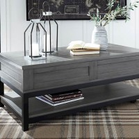 Caitbrook Gray/Black Accent Table Set