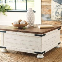 Wystfield White/Brown Accent Table Set