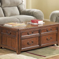 Woodboro Dark Brown Finish Accent Table Set