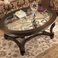 Norcastle Dark Brown Accent Table Set