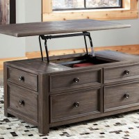 Wyndahl Rustic Brown Accent Table Set