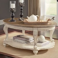 Realyn White/Brown Accent Table Set