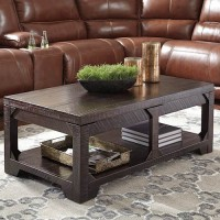 Rogness Rustic Brown Accent Table Set