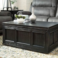 Gavelston Rubbed Black Accent Table Set