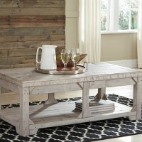 Fregine Whitewash Accent Table Set
