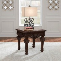 Brynhurst Reddish Brown Square End Table