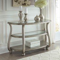 Coralayne Silver Finish Sofa Table