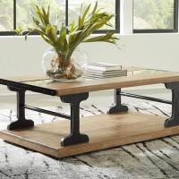 Calkosa Brown/Black Rectangular Cocktail Table