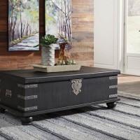 Delmar Black Accent Table Set