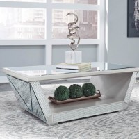 Fanmory Silver Finish Accent Table Set