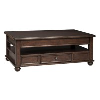 Barilanni Dark Brown Lift Top Cocktail Table