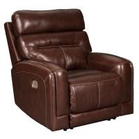 Sessom Walnut Power Recliner/Adjustable Headrest
