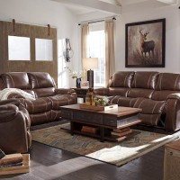 Rackingburg Mahogany Living Room Group