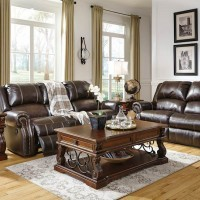 Walworth Dark Brown Living Room Group