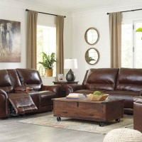 Catanzaro Mahogany Living Room Group