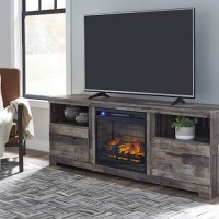 Derekson Multi XL TV Stand with Fireplace Option