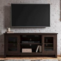 Camiburg Warm Brown LG TV Stand with Fireplace Option