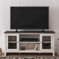 Dorrinson Two LG TV Stand with Fireplace Option