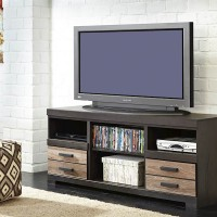 Harlinton Two LG TV Stand with Fireplace Option