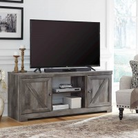 Wynnlow Gray LG TV Stand with Fireplace Option